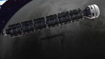Mars space train