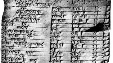 Ancient trigonometry table