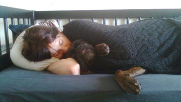 sleeping with pet